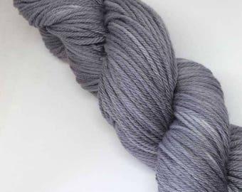 Bellevue Park Ultrafine Merino Hand-dyed 100g 8 ply Wool Yarn Grey Gum