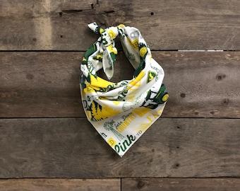 John Deere Tractor Farming Green & Yellow Tie On Dog Bandana