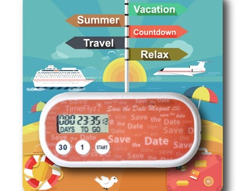 Our Cruise Vacation Countdown Clock & Embellished Card
