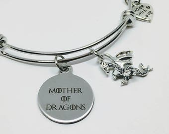 Mother of dragons jewelry - mini dragons - dragon scale - comic con jewelry - dragon jewelry