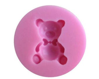 Teddy Bear Mold Candy Chocolate Soap Ice Crayon Candle Fondant Baking Supplies Jenuine Crafts