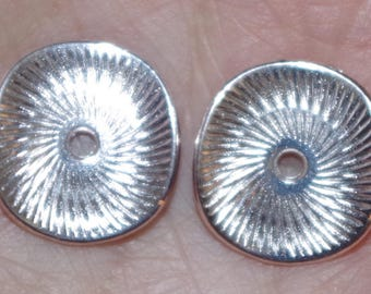 Vintage 14k Gold Filled Diamond Cut White Gold Jackets For Earrings  Use With Any Studs..Useful For Split Earlobe
