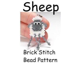 Sheep Bead Pattern, Brick Stitch Bead Weaving | DIGITAL DOWNLOAD