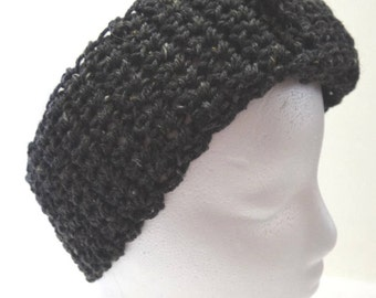 Womans Gray Headband, Ear Warmer, Warm Head, Band, Chunky, Woolen, Hair, Wrap, Winter, Trending, Gift/Present, Crochet knit, New