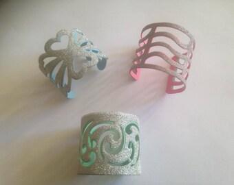 Set of 3 rhinestone bracelets