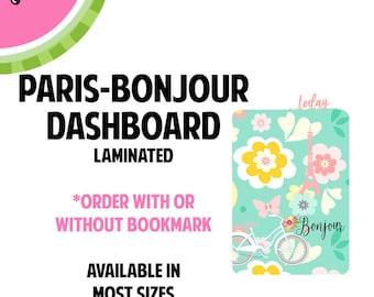 New!  PARIS-BonJour Laminated Dashboard for Traveler's Notebook | .3mil | DB033