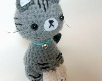Crochet Cat Plush Tabby Cat | Stuffed Animal Cat | Crochet Animal | Tabby Cat Crochet  | Stuffed Animals | Crochet Cat Stuffed Animal Cat