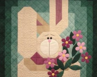 My Bunny Quilt, Easter, Spring, Bunny, Baby quilt