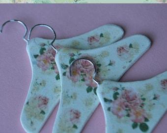 Miniature dress Hanger A-6 set of 3 hangers for dollhouse scale 1/6