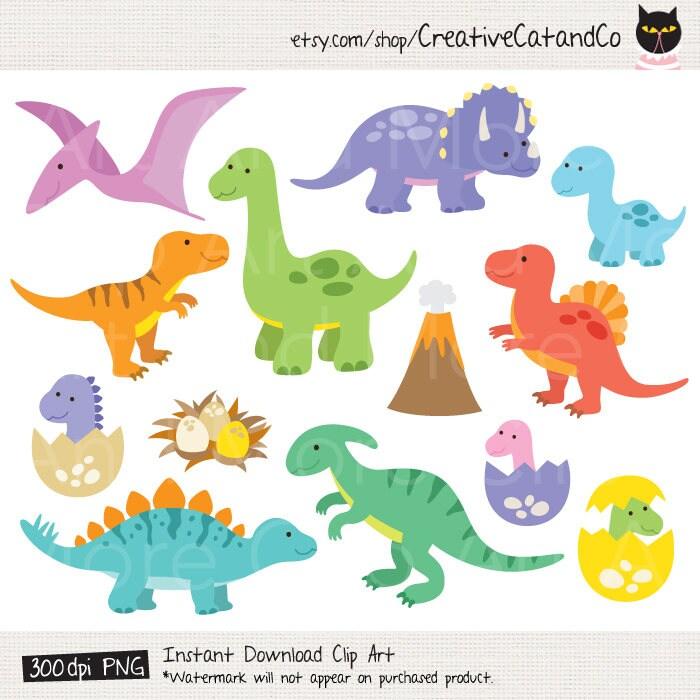 dinosaur clipart dinosaur clip art t rex clipart baby dinosaur rh etsy com dinosaurs clipart dinosaur clipart free