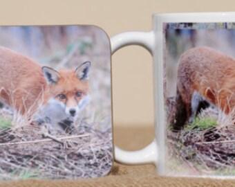 Fox mug with coaster
