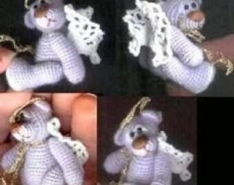 Crochet Bear Pattern: BLUE ANGEL Miniature Bear Pattern by Edith Molina. Amigurumi PDF Instant Download