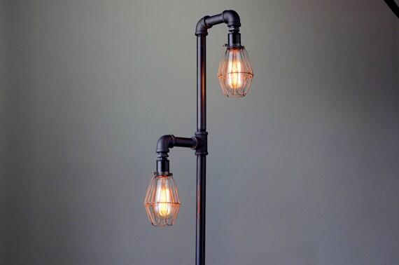 Pipe Floor Lamp Industrial Floor Lamp Edison Bulb