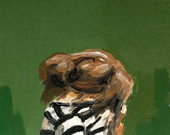 In Hiding. Art Print, Original Painting, Wall Art, thepaintedgrove