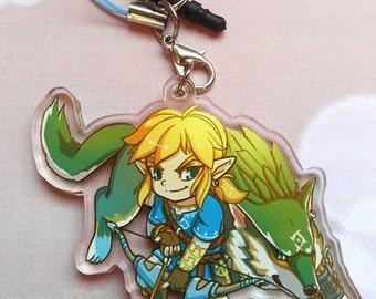 Legend of Zelda Breath of the Wild Link Acrylic Phone Charm