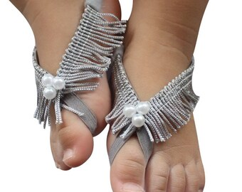 Silver Baby Sandals, Silver Sandals, Barefoot Sandals, Barefoot Baby, Baby Barefoot, Baby Accessories, Sandals For Babies