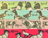 Satin Animal Ribbon - Duc...