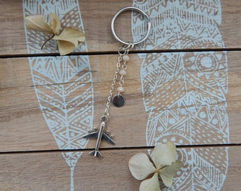 Travel key ring with air pendant