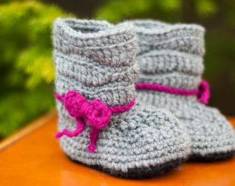 Crochet Baby and Toddler Slouchy Boots