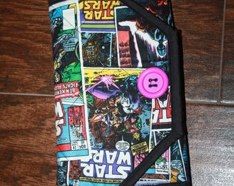 Star Wars Comic Strip Quilted Notepad Cover Clutch