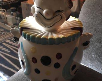 """Vintage Clown 8"""" Cookie Jar"""