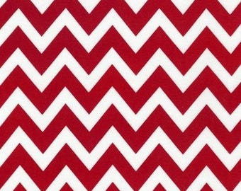 Ann Kelle  REMIX Red Medium Chevron for Robert Kaufman Fabrics  - 1/2 Yard