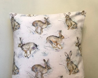 Voyage **HURTLING HARES** Cotton  Cushion Cover 40cm