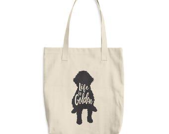 Goldendoodle Tote Bag - Cotton