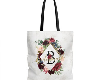 White Marble Bridesmaid Tote, Bridesmaid Gift, Bridesmaid Tote Bag, Tote Bag, Bridesmaid Bag, Bridesmaid Gifts, Bridal Party Gift, Wedding