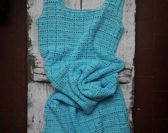 Dress Hortensia #платье #гортензия / woman point / / amazing Handmade, knitt, knitting, handmade, coat, dress, knitted dress woman