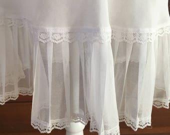 L / Victoria's Secret / Chemise / Slip Dress/ White / Vintage / Large