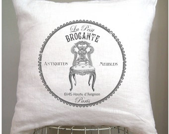 French Pillow Cover. French Country Pillow Cover. Shabby Chic Pillow. French Country. French Flea Market. Cottage Pillow.