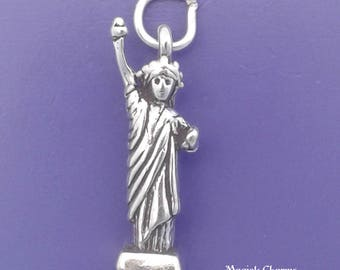 STATUE Of LIBERTY Charm, New York .925 Sterling Silver Pendant -  lp1263