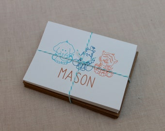 Animal Personalized Note Cards