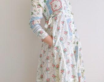 Vintage Gunne Sax dress | floral print midi dress w/ pockets prairie boho patchwork button down hippie | Gunne Sax by Jessica | size x-small