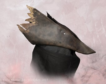 Bloodborne Hunter Leather Hat replica v.1 / LARP / Fantasy style / cosplay / handmade