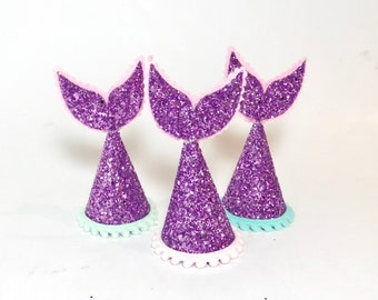 SALE Item of the Month || Mermaid Party Hat || Add Any Trim And Number || Sale Less Than Half Price || Orchid Glitter
