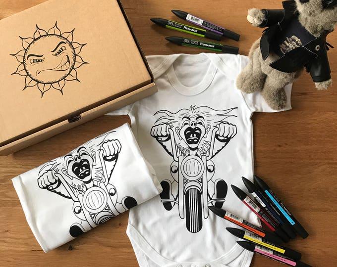 Bike Rider - Organic Baby Bodysuit