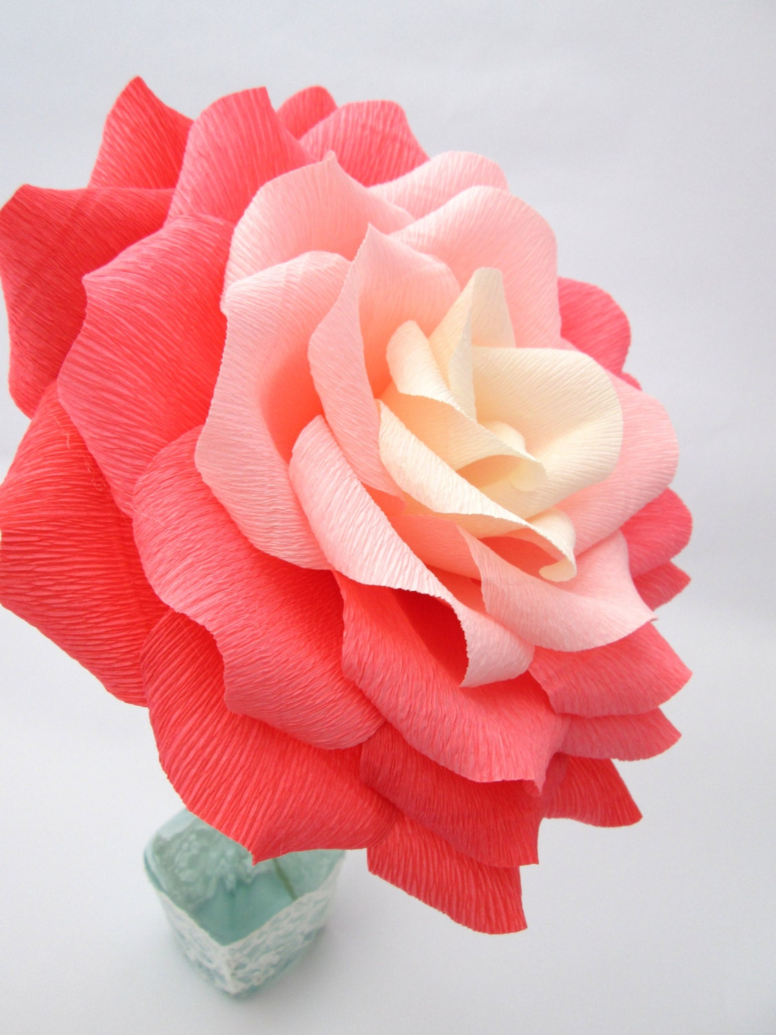 Giant paper flower ombre paper rosewedding zoom izmirmasajfo Choice Image