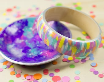 Abstract Hand Painted Bracelet