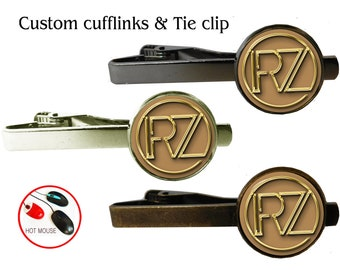 Custom tie clip bar tack clips Custom personalized monogram individual Tie clip bar tack Gift for men him dad husband gift Fathers Day
