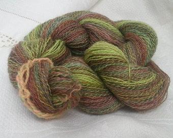 Surprise! - Wool/Alpaca blend Laceweight Handspun Yarn 410yards