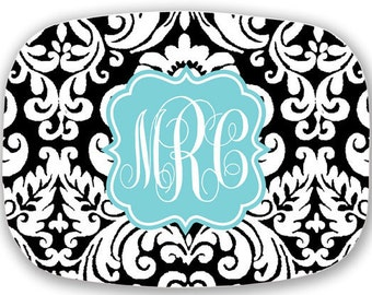 Monogram Melamine Platter - Custom Pattern, Color, Name & More - Personalized Serving Tray Housewarming Gift - Design Your Own