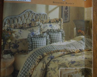 Simplicity 8898, bedding basics, UNCUT sewing pattern, craft supplies, comforters, dust ruffles, pillow shams