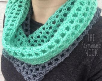 Crochet Cowl, winter scarf, neck warmer, infinity scarf, fall accessory,