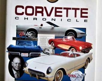Book Hardcover History 1993 Corvette Chronicle Automobile Vibrant Color Pictures Coffee Table Collectible Chevy Encyclopedia James Flammang