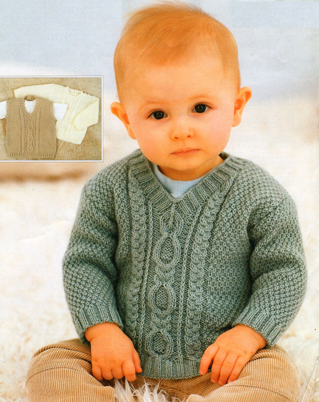 PDF Knitting Pattern / Vintage Baby Knitting Pattern / Six Sizes ...