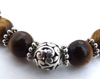 Tigereye Bead Bracelet