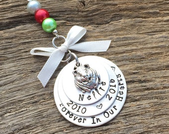 Guinea Pig Memorial Christmas Ornament | Pet Memorial Ornament | Pet Keepsake Ornament | Pet Remembrance Ornament | Pet Sympathy Gift