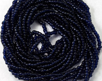 14/0 Opaque Midnight Antique Seed Bead (3 gram) #XRB142